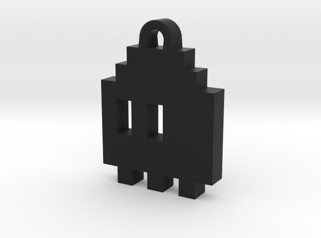 Pac Man Ghost 8-bit Earring 1 (looks L/R) 3d printed