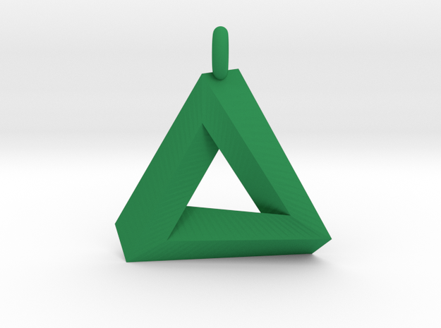 Penrose Triangle - Pendant (3.5cm | 3.5mm O-Ring) 3d printed
