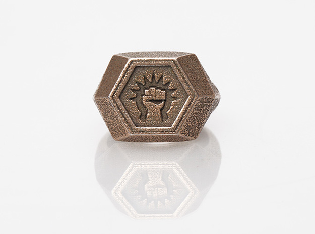 Magic: The Gathering    Boros Ring(US Size 08) in Polished Bronzed Silver Steel