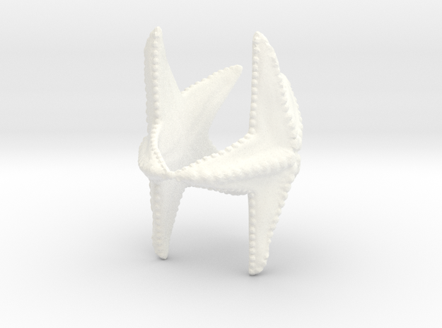Starfish napkin holder in White Strong & Flexible Polished