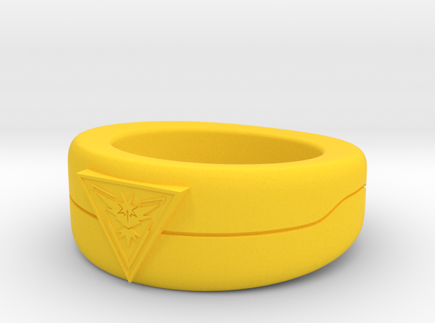 Team Instinct Triangle Ver Size 6.5 in Yellow Strong & Flexible Polished