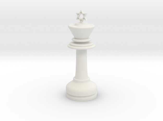 MILOSAURUS Chess LARGE Star of David King in White Natural Versatile Plastic
