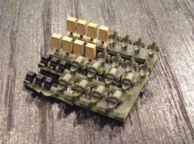 1:700 Scale Airfield Accessories 2 in Smoothest Fine Detail Plastic