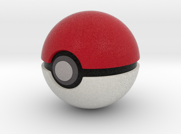 Pokemonball 50 mm in Full Color Sandstone