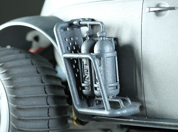 Side Pannier with NOS Cannisters in White Processed Versatile Plastic