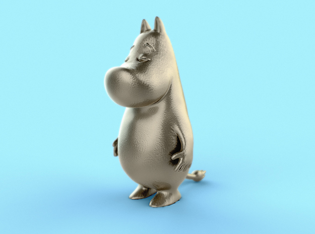 MoominTroll - 70mm Prestige Figurine in White Natural Versatile Plastic