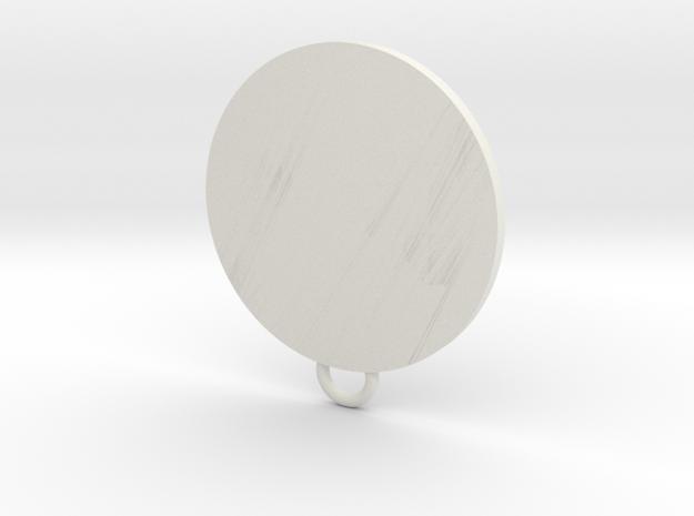 Avengers Fan Keychain in White Natural Versatile Plastic