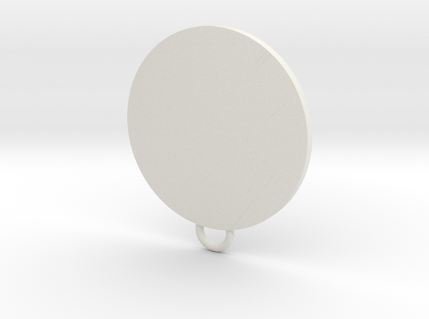 Tyrell Fan Keychain in White Natural Versatile Plastic