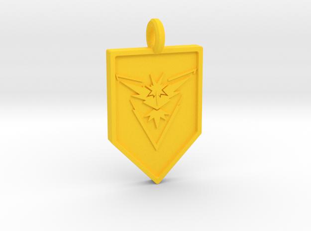 Team Instinct Badge Keychain in Yellow Processed Versatile Plastic