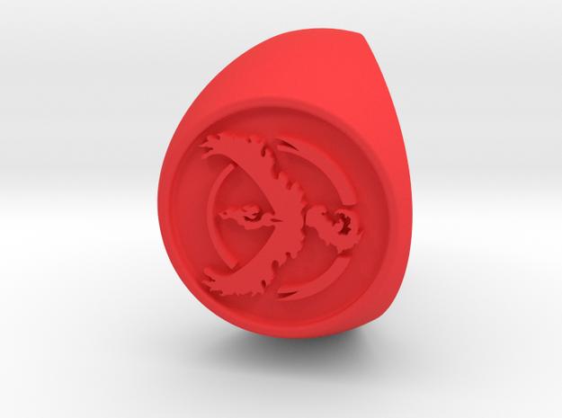 Team Valor Signet US 12  in Red Processed Versatile Plastic