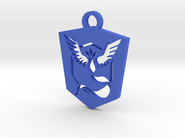 Team Mystic Keychain - Pokemon GO in Blue Processed Versatile Plastic