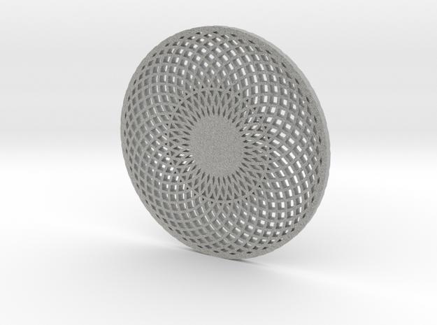 Geometric Coaster in Metallic Plastic