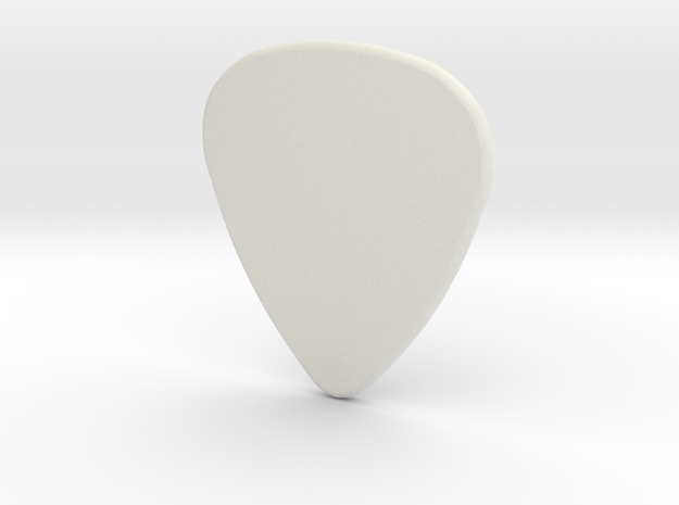 Basic 2mm Plectrum in White Natural Versatile Plastic