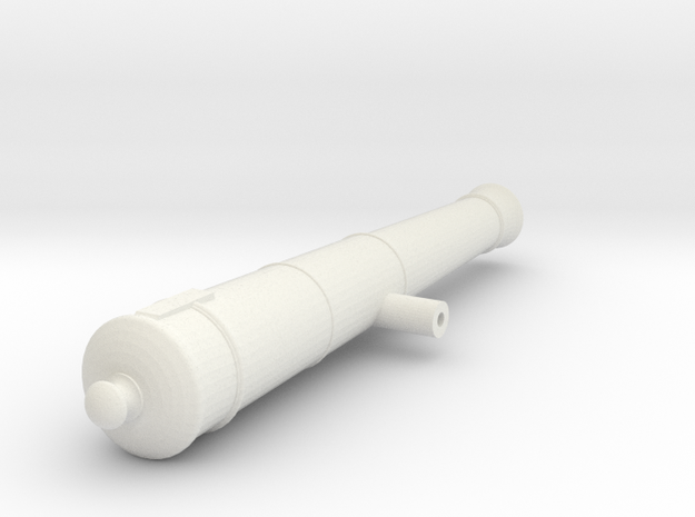 1:24 scale12lb Barrel in White Strong & Flexible