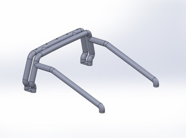 Bigfoot 6 Roll bar in White Strong & Flexible Polished