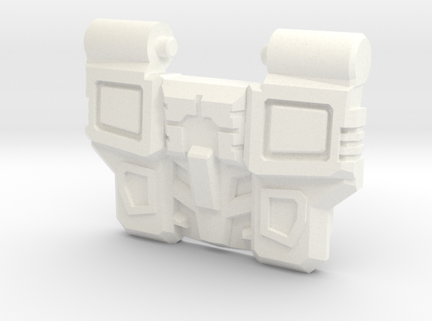 Reckless Driver's IDW Chest Plate v2 in White Processed Versatile Plastic