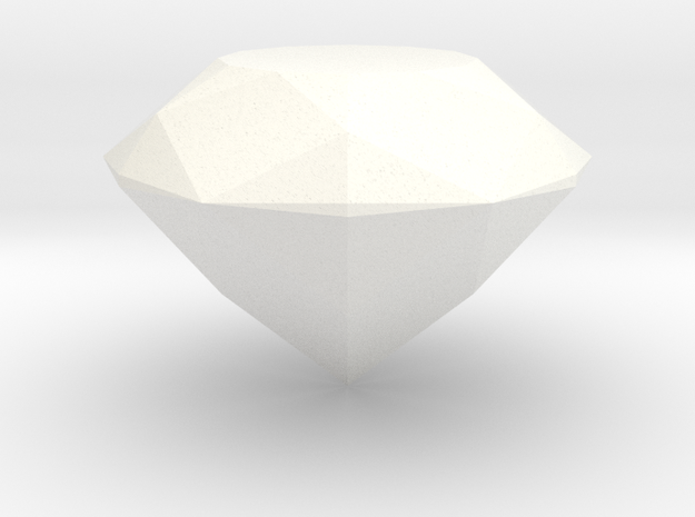 Gem (from Crash Bandicoot) in White Strong & Flexible Polished