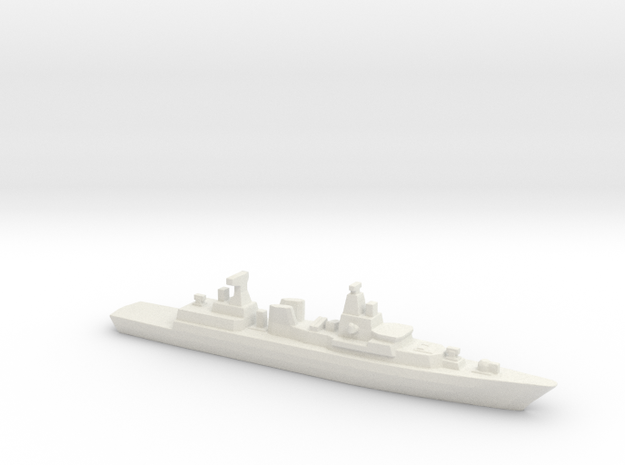 Brandenburg-class FFG, 1/3000 in White Natural Versatile Plastic