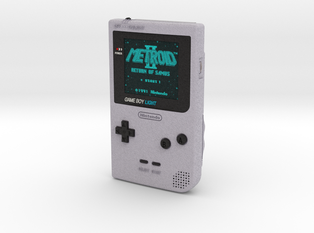 1:6 Nintendo Gameboy Light (Silver Metroid 2)
