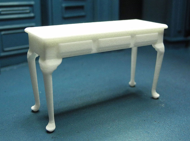 1:24 Queen Anne Plain Console Table, Large in White Strong & Flexible