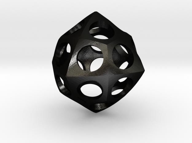 Deltoidal Icositetrahedron Roller in Matte Black Steel