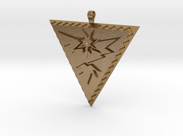 Team Instinct Pendant in Polished Gold Steel