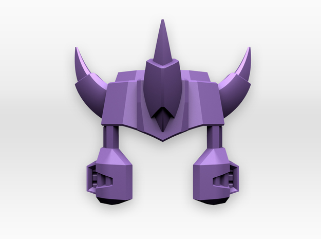 Titans Return Voyager Galvatron Helm in Purple Strong & Flexible Polished
