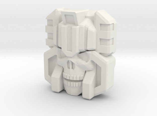 Monstructor Face, IDW (Titans Return) in White Natural Versatile Plastic