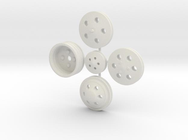 Billet Pulleys 1/16 in White Natural Versatile Plastic