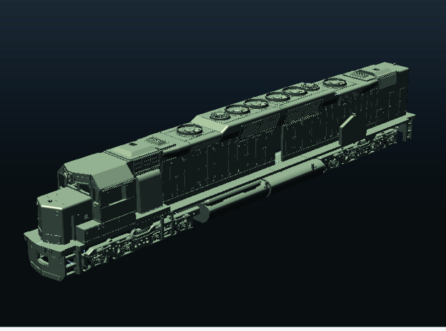 N Scale DD35a Locomotive in Smooth Fine Detail Plastic