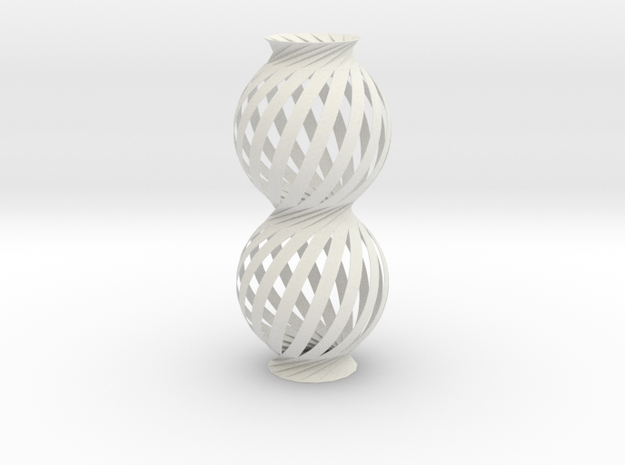 Lamp Ball Twist Spiral Column Fold and Cut in White Strong & Flexible