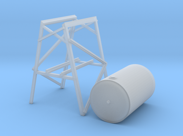 300 Gal. Fuel Tank And Stand in Smooth Fine Detail Plastic