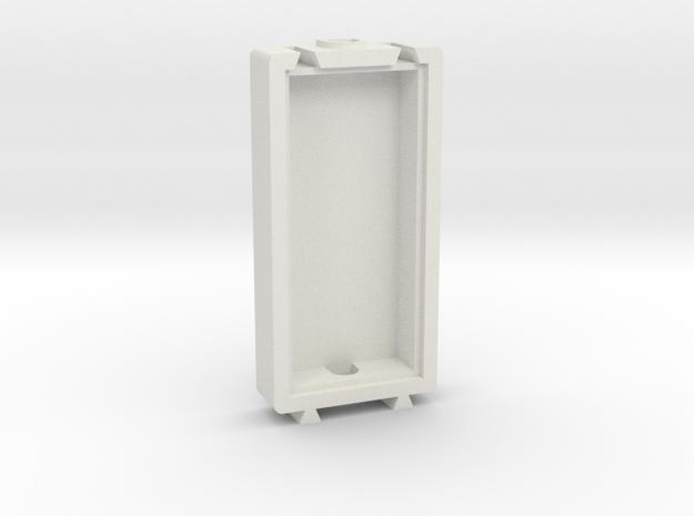 Basic Long Modular Piece in White Natural Versatile Plastic