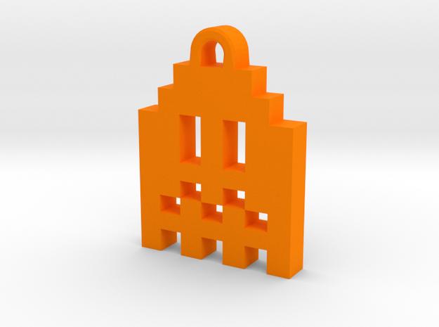 Pac Man Ghost 8-bit Earring 1 (afraid | moving) 3d printed