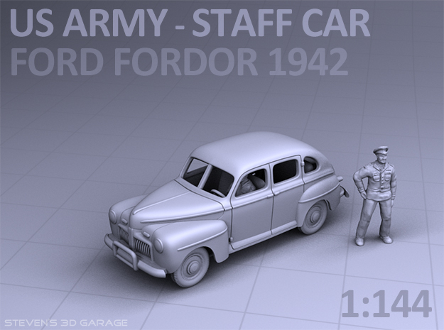 American Staff Car 1942 in Smooth Fine Detail Plastic
