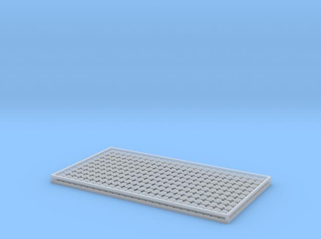 7mm Sleeper Plates C100 Rail X 500 in Smooth Fine Detail Plastic