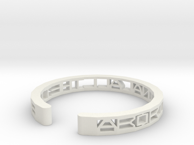 Aboriginal All The Time Bracelet in White Natural Versatile Plastic