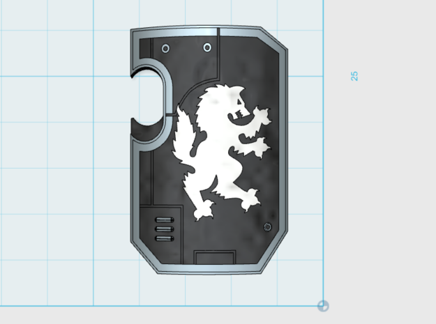 10x Wolf Rampant- Marine Boarding Shields w/Hand in Frosted Ultra Detail