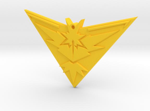 Pokemon Go - Team Instinct - Pendant  in Yellow Strong & Flexible Polished