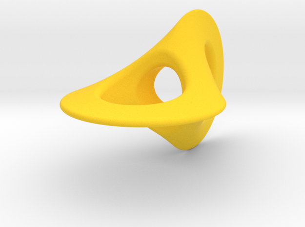 Two Circle Roller 5 in Yellow Processed Versatile Plastic