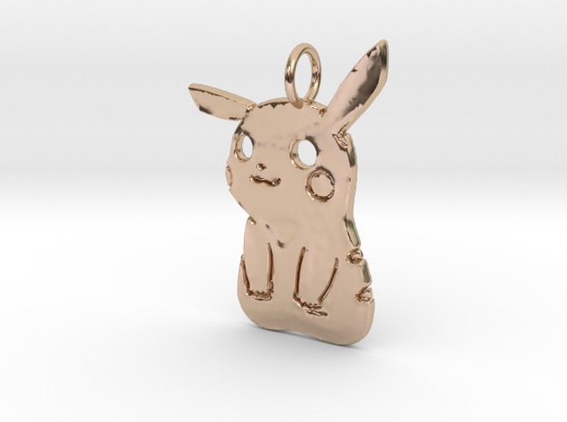 PikaBoo Pendant in 14k Rose Gold Plated Brass