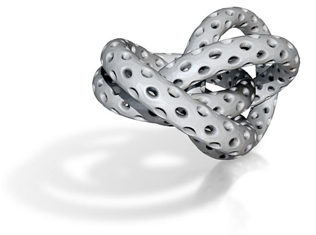 4 Interlocked Lattice Rings 3d printed