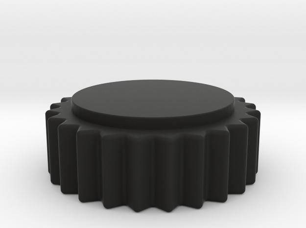 Ferrari Center Knob 6mm 18 Point Spline in Black Natural Versatile Plastic