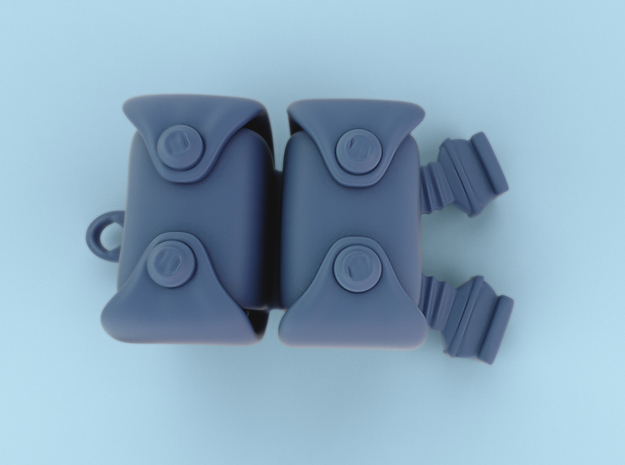 Speedloader Pouches 6inch/1:12th scale17mm height 3d printed