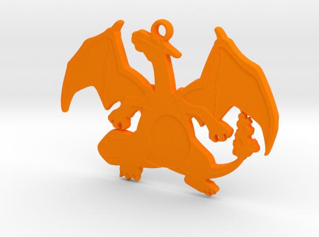POKEMON Charizard Pendant  in Orange Processed Versatile Plastic
