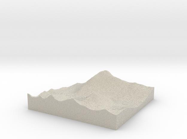Model of Llyn Ogwen in Natural Sandstone