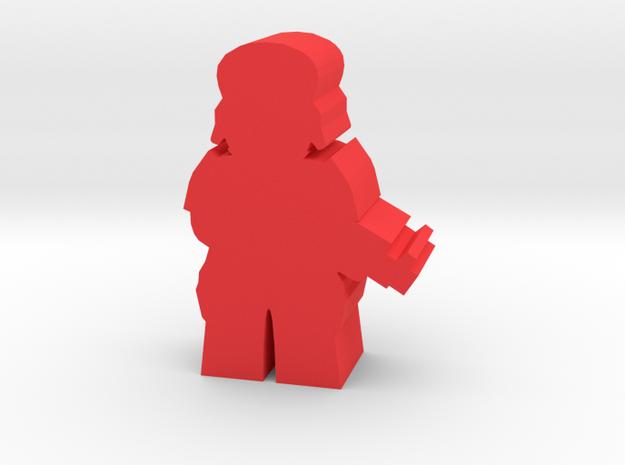 Game Piece, Imperium Soldier in Red Processed Versatile Plastic