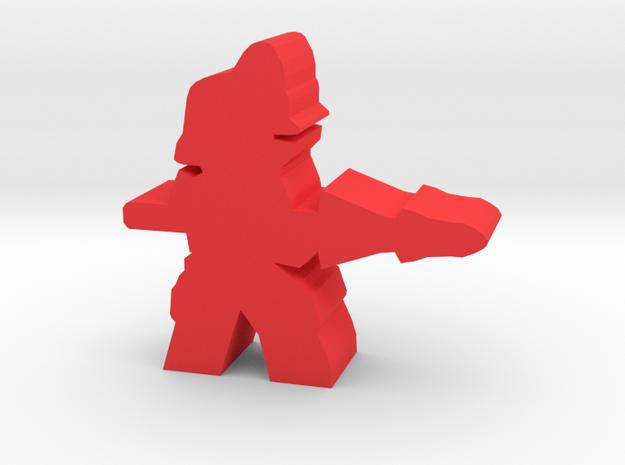 Game Piece, Imperium Lancer in Red Processed Versatile Plastic