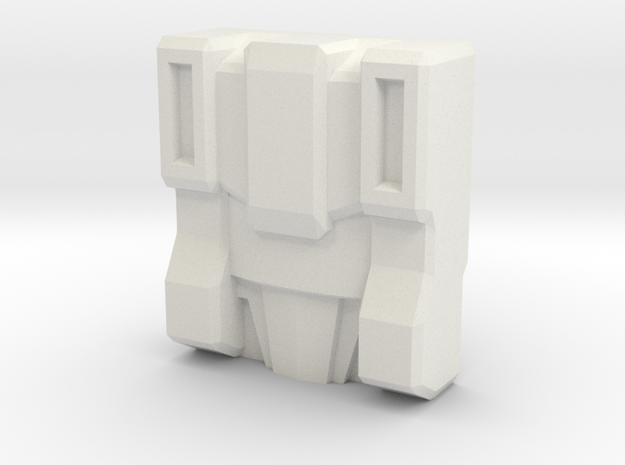 Slog/Kakuryu Faceplate (Titans Return) in White Natural Versatile Plastic