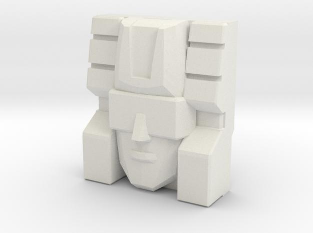 BirdBrain/Rairyu Faceplate (Titans Return) in White Natural Versatile Plastic